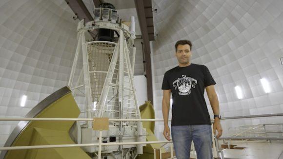 Saludos a Naukas Córdoba desde el Telescopio Anglo-Australiano