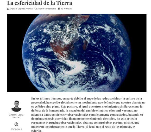 """La esfericidad de la Tierra: artículo para la revista """"Descubrir la Historia"""""""