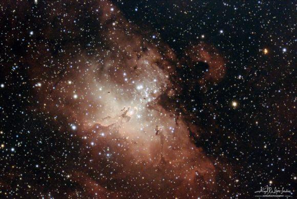 Prueba de la Nebulosa del Águila desde el jardín de mi casa de Sídney